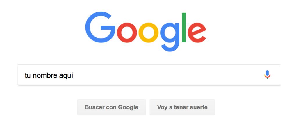"""Entra en Google y""""Googleate"""""""